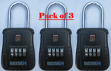 PACK OF 3 - Lockbox key lock box for realtor real estate 4 digit