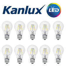 10x Kanlux FILAMENT LED 4W 420Lm Light Bulb Lamp 6500K Daylight White E27 Cap