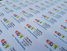 130x PERSONALISED / CUSTOM Address Labels for EBAY SELLERS - 38mm x 21mm - Matte