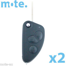 2 x Alfa Romeo GT 147 156 166 3 Button flip key FOB Shell/Case/Enclosure