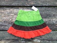 NEW Girls The Children's Place Corduroy Skirt Size 6-9 Months Fall Green Orange