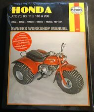 HAYNES 1971 & ON HONDA ATC 70, 90, 110, 185, 200 OWNERS SERVICE MANUAL NEW (565)