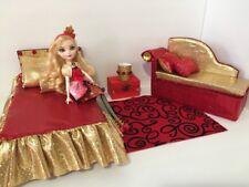 Barbie Or Ever After High.furniture Bedroom Set:Bed,sofa,lamp:Apple White