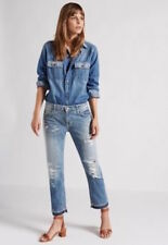 CURRENT ELLIOTT The Cropped Straight Relaxed Fit Jeans 28