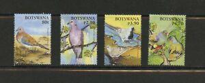 F345 Botswana 2005 birds doves pigeons 4v. MNH