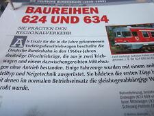 Deutsche Eisenbahngeschichte N DB 1949-1993 Baureihe 624 & 634 Regionalverkehr