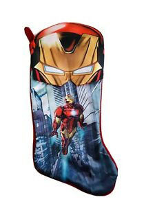 18 In  Marvel Iron Man Red Blue Christmas Stocking