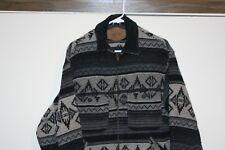 Woolrich Classic Field Barn Western Jacket Button Up Men Small Multi Brown Aztec