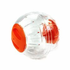 Hamster Exercise Ball Gerbil Play Toy Clear Orange 15cm T6B8