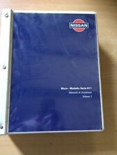MANUALE ASSISTENZA NISSAN MICRA K11 VOLUME 1 ORIGINALE CARTACEO