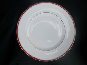 Minton. SATURN. Red.  Dinner plate. Diameter 10 5/8 inches