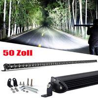 "Roof 50inch Slim LED Light Bar Flood Spot Offroad Truck Driving 4WD SUV 52"""