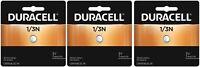 3 Pack Duracell CR1/3N DL1/3N 2L76 Photo Lithium 3V Batteries EXP 2028