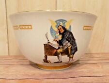 Vintage Danbury Mint Bowl Benjamin Franklin Norman Rockwell