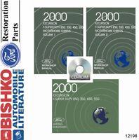 OEM Shop Manual CD Ford Truck Excursion/F250-F550/Motorhome 2000