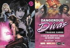 MARVEL DANGEROUS DIVAS SERIES 1 PROMO CARD TRADING CARD P 1