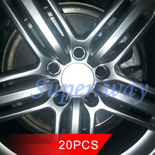 20 pieces/Combo 19mm Black Rubber Car Truck Wheel Tyre Center Hub Screw Hub Caps