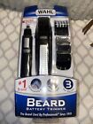 WAHL Nose Ear Body Beard Hair Wet/Dry Battery Precision Blade Trimmer Set Silver