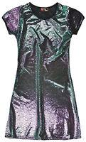 Girls Star Shimmer Midi Dress New Kids Short Sleeved Party Dresses Ages 3-10 Yrs
