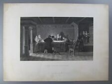 A Visit from the Inquisitors, Original 19th Century Engraving