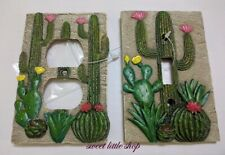 3D SOUTHWEST DESERT CACTUS Decor Light Switch Plate Cover OR Wall Plate Outlet