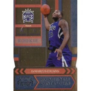 DEMARCUS COUSINS 2010-11 PANINI PLAYOFFS CONTENDERS ROOKIE /299