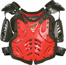 Motocross ATV Kids Roost Guard Fly Racing Chest Protector 40-80lbs  RED NEW