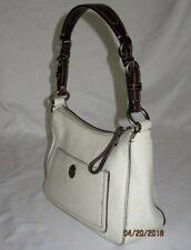 Vtg COACH 8E99 Off-White Pebble Grain Cowhide Leather Purse HandBag Authentic