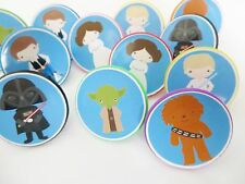12 Star Wars Rings cupcake toppers - birthday party favor pinata cake toys