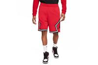 Nike Air Jordan Jumpman Fleece Diamond Shorts Red Black CV7317-687 Men's NWT