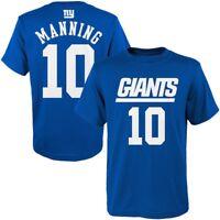 New York Giants Eli Manning Youth Boys 8-20 Performance Premium Shirt Closeout