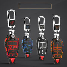 Car Keychain Key Bag Key Fob Cover Keyring For Chrysler RAM JCUV Grand Cherokee