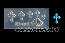 3D Nail Art Acrylic Mold Cross Bell Shape DIY Manicure Tips Tool Decoration-17