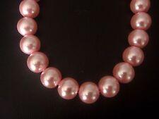 1 cuerda de Rosa Perlas De Vidrio. tamaño de 10 mm. Apx 85 Beads