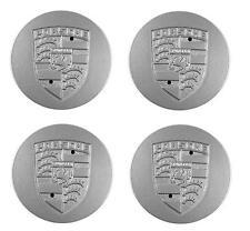 Center Cap Set (4), Silver Metal, Porsche, 928.361.032.01, 911/924/928/944 78-91