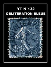 YT N°132 : OBLITÉRATION BLEUE !!!