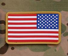 USA US Stars & Stripes Reverse Flag Patch MilSpec PVC Patch VELCRO® Brand