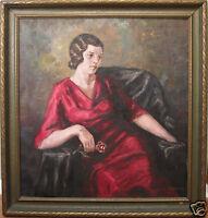 ANTIQUE 1935 WPA ERA FINE ART INSTITUTE CHICAGO AMERICAN IMPRESSIONIST PAINTING