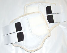 Patent White Horse Work Boots with Fleece Lining - Extra Large