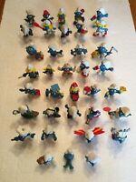 Lot of 36 Vintage Smurfs 70's,80's Smurf Figures Peyo Figurines Some Rear