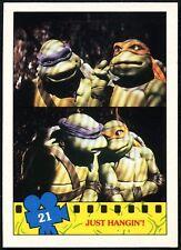 Just Hangin#21 Teenage Mutant Ninja Turtles The Movie 1990 Topps TradeCard-C1324