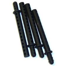 62013 RC Black Body Posts Shell Mounts x 4 Plastic - 1/8 Parts HSP Tornado
