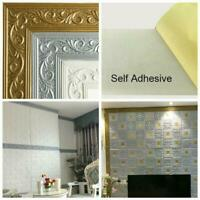 230 X 8cm Self Adhesive Wall Skirting Wallpaper Border 3D Pattern Floral DIY