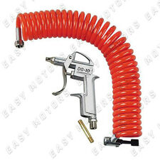 Tubo a spirale 5 m + pistola aria compressa Raccordo e presa aria camion Air-Kit