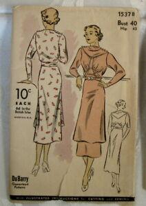 Vintage Antique DeBarry Dress Sewing Pattern Uncut Unused #1537 B