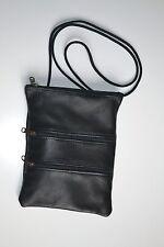 PORTADOCUMENTI NERO 001 BORSELLO BORSETTA valigetta porta vera pelle tracolla