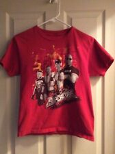 WWE Superstars Red T-Shirt - Cena Rock Orton Lesner Size 10-12