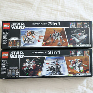 LEGO 66533 & 66534 STAR WARS Microfighters Series 2-Super Pack 6 Bundled Set NEW