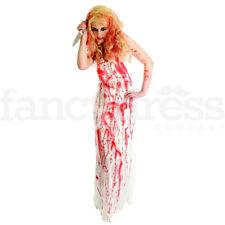 Señoras traje de novia Sangriento Reina del Baile de graduación Carrie 80s Disfraz De Halloween Disfraz