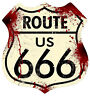 Route 666, Men's T-Shirt, Ideal Gift or Birthday Present.